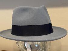 Bailey Of Hollywood DERZEN Fedora GREY Iron Gun  LiteFelt Hat Cap LARGE  NEW