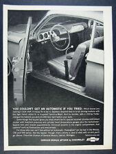 1964 Chevrolet Corvair Monza Spyder Coupe interior photo vintage print Ad