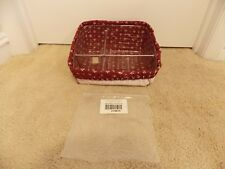 ** LONGABERGER ** Divided Plastic Protector 44849 + Red Liner 279875 (SMALL BIN)