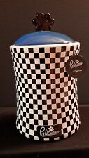 NEW PAWCASSO PET FOOD TREAT JAR CHECKERBOARD PAW HANDLE VERY CUTE