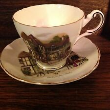 Regency English Ole Coach House Stratford Cup & Saucer England