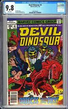 Devil Dinosaur #4 CGC 9.8 WP 1978 3763192022 Objects from the sky! Newsstand