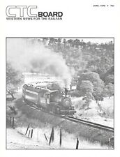 CTC Board Magazine June 1976 Amtrak Las Vegas Limited Sierra Railroad Santa Fe