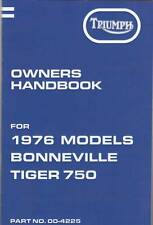 1976 Triumph Bonneville,Tiger 750, T140V, OIF, OEM, OWNERS Handbook, Brown Wrap