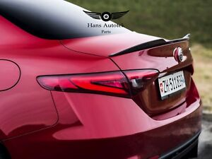 Carbon Fiber Trunk Rear Spoilers QV Style For Alfa Romeo Giulia Sedan 2016 - up