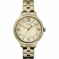 Timex TW2R28100, Women's Goldtone Bracelet Watch, Peyton