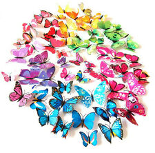12pcs 3D Butterfly Sticker Decal Wall Stickers Removable Home Room Decor
