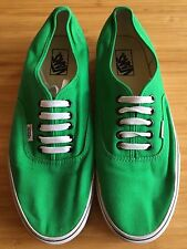 VANS 100% Classic Mens Green Low Rise Lace Up Canvas Casual Skate Sneakers US11