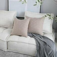 "Kevin Textile Decorative Lined Linen Square Throw Pillow Cases Protect 20"" x 20"""