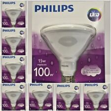 (8 PACK) Philips 100W 15W LED Flood/spot Light Bulb PAR38 - In/Out - Dimmable