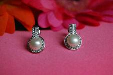 Handmade Silver Plated Cubic Zirconia Costume Earrings