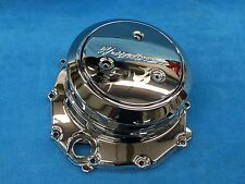 1999-2017 HAYABUSA CHROME CLUTCH COVER WITH DERBY PLATE