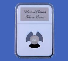 Elite Slab Coin Holder Three Cent Silver with Etched Metal Label Little Bear