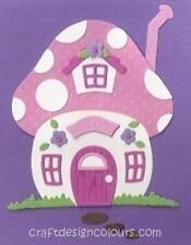 DIE CUT - 1 X MUSHROOM HOUSE (KIT)  PINK