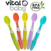 Soft Tip Spoons Set Long Bendable Handle Feeding Utensils x Weaning Baby 5 Pk