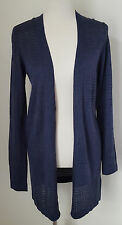 NWT Apt. 9 Women's Cardigan Sweater L/S Dark Blue With Metallic Accent Size S