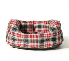 Danish Design Lumberjack Tartan Check Slumber Dog Bed Pet Nesting Bed
