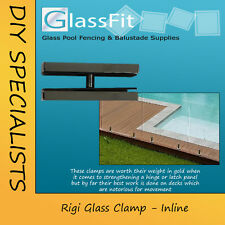 Glass Clamp - Slimline Inline - 316L Stainless Steel - 12mm glass pool fencing