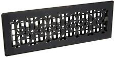 Decor Grates St414 Scroll Floor Register, Textured Black, 4-Inch By 14-Inch