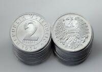 1954 Austria 2 Groschen Coin Lot (20 coins) All in BU Condition! KM# 2876