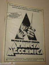 ARANCIA MECCANICA clockwork orange FILM 1972 PUBBLICITA MANIFESTO LOCANDINA