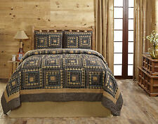 """3 Piece KING """"SMOKEY CABIN"""" Quilted Bedding SET ~ Country, Primitive"""