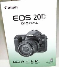 2004 Canon Eos Rebel 20D Digital Slr Camera Owners Instruction Manual