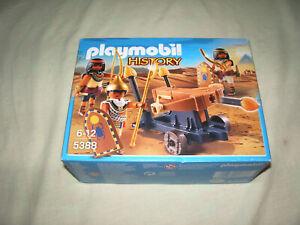 """"""" BOITE PLAYMOBIL 5388 GUERRIER EGYPTIEN SERIE EGYPTE SOLDAT NEUF"""