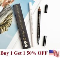 Microblading Eyebrow Pen +eyeliner  Waterproof Fork Tip Tattoo Long Last Pencil