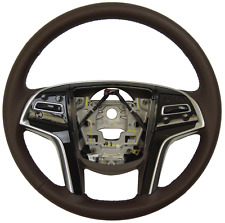 2014 Cadillac SRX Steering Wheel Brownstone Leather New OEM W/CC Audio 23187000