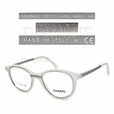 CHANEL 1507-T c.1433 White Titanium 48/18/140 Eyeglasses Rx Made in Italy - New