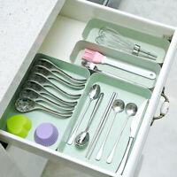 Kitchen Degradable Drawer Organiser Storage Boxes Tray Utensil Tablewear UK