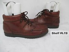 NATURAL SPORT Brown Leather Lace Moc Toe Ankle Boots Size 10 N Style 725A18