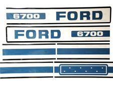 BONNET DECAL SET FITS FORD 6700 TRACTORS HIGH QUALITY.