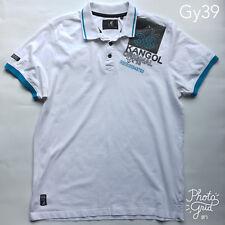 Kangol White Polo Shirt with Logo Size XL