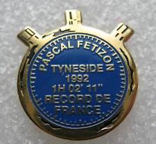 Pin's Pascal Fetizon Record de France1992 Chronometre #252