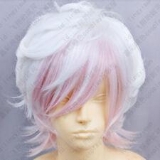 287 DIABOLIK LOVERS Sakamaki Subaru Short White mix Pink Cosplay Fashion Wig