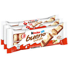 Ferrero Kinder Bueno WHITE Limited Edition Pack of 3 bars - Shipping Worldwide -