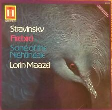 STRAVINSKY ~ FIREBIRD ~ SONG OF THE NIGHTINGALE , LORIN MAAZEL 1958 Lp Record.