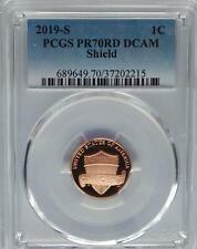 PCGS PR70 DCAM 2019-S Proof Lincoln Shield Cent Penny US Mint Abe Abraham USA>1c