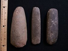 3 AUTHENTIC MARITIME ARCHAIC STONE WOODWORKING TOOLS FROM COASTAL MAINE