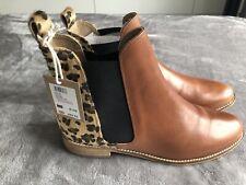Joules Womens Westbourne Premium Chelsea Boot - Leopard Adult UK Size 4 EUR 37