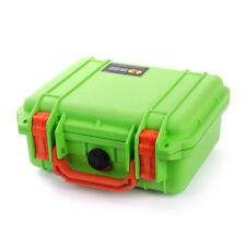 New Pelican Lime Green & Orange 1200 Case with Foam.
