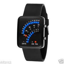 Luxury Womens Mens Multicolor LED Digital Wacth Quartz Sport Date Wrist Watches