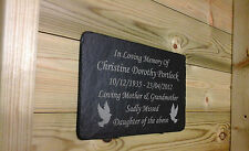 1st 4 Signs Memorial Slate Plaque - Personalised Gravestone Marker Made to Order