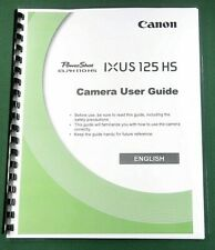 Canon PowerShot IXUS 125 HS Instruction Manual: 218 Pages & Protective Covers