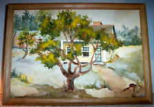 Original Watercolor Painting Landscape Architectural Cottage  Signed Betsy Brown