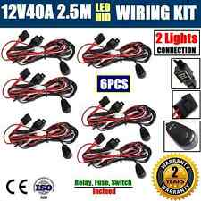 6x 12V40A WIRING LOOM HARNESS KIT HID LED DRIVING WORK LIGHT BAR AUTO FUSE RELAY