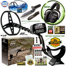 Garrett AT Pro Metal Detector Underwater Waterproof MS2 Headphones & Edge Digger