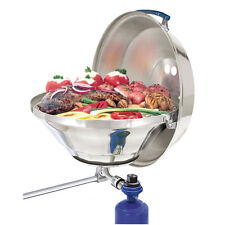 "Magma Marine 17"" Round Kettle Party Size Propane/Gas Boat/RV BBQ Grill with Lid"